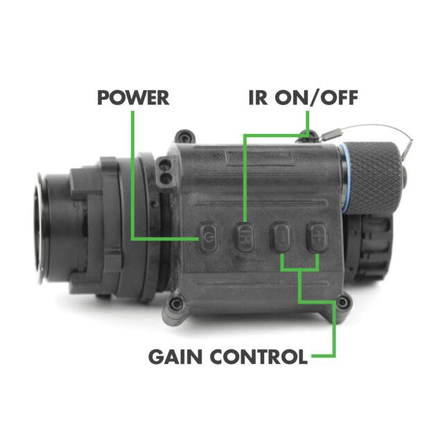NVD-UL-14 Ultra-light Night Vision Monocular Digital Push Buttons